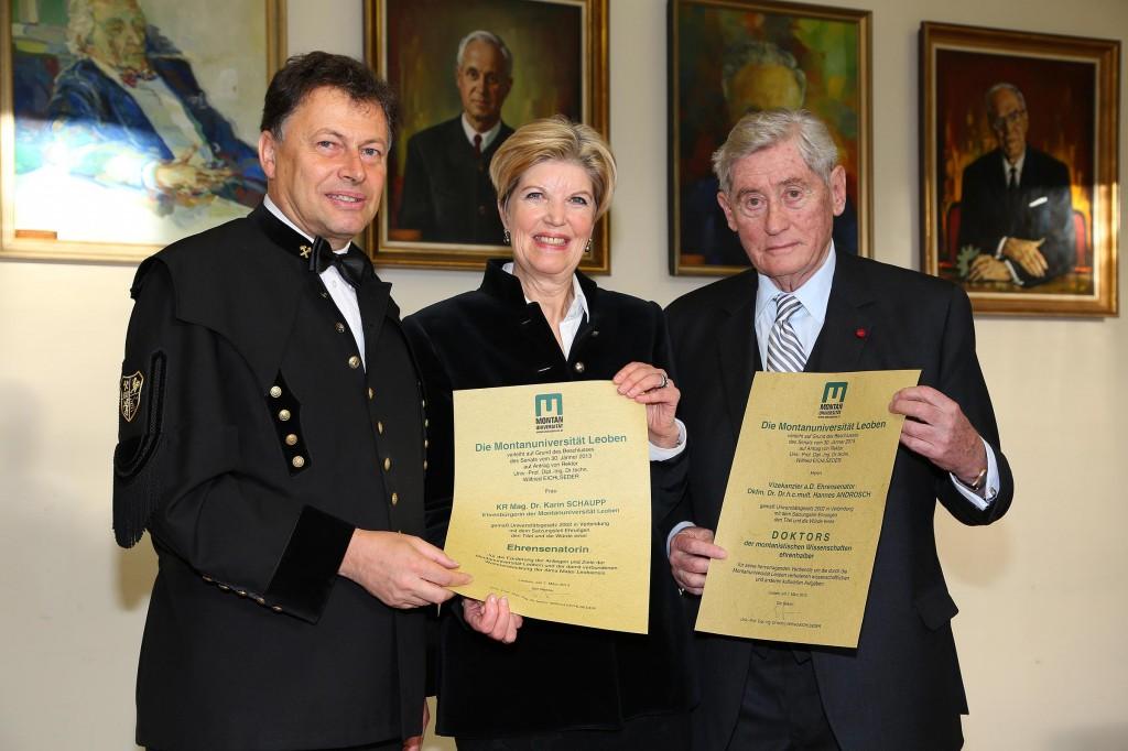 Ehrendoktorat für Dr. Hannes Androsch