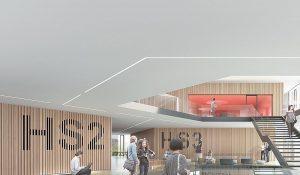 Innenansicht des geplanten Studienzentrums (© Franz&Sue – Expressiv)